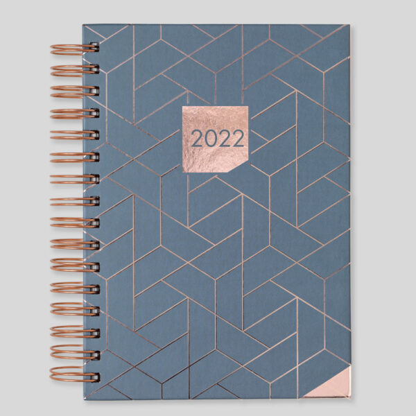 Matilda Myres 2022 Rose Gold Wiro A5 Daily Diary – MY115-02D-CC-Grey