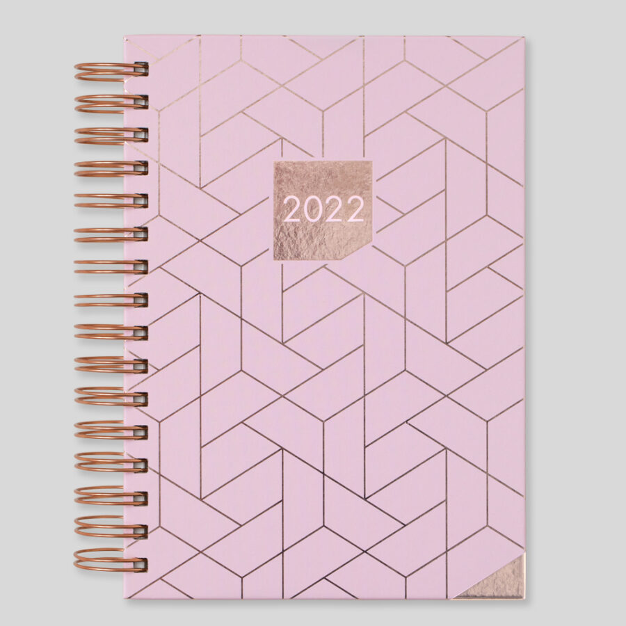 2022 Diary Matilda Myres Day a Page Diaries Pink