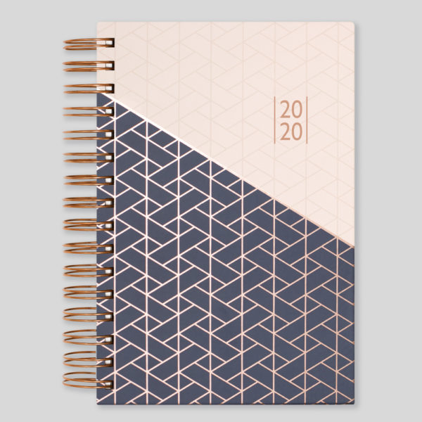 Matilda Myres 2020 Rose Gold Wiro A5 Daily Diary – Ivory – MY115-03D