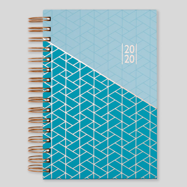 Matilda Myres 2020 Rose Gold Wiro A5 Daily Diary – Blue – MY115-02D