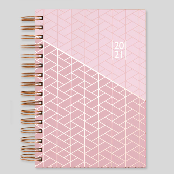 Matilda Myres 2021 Rose Gold Wiro A5 Daily Diary – Pink – MY115-01D-CC