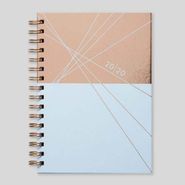Matilda Myres 2020 Rose Gold Wiro Weekly Diary – MY115-02W
