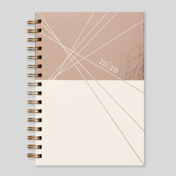 Matilda Myres 2020 Rose Gold Wiro Weekly Diary – MY115-03W