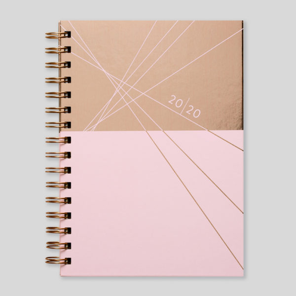 Matilda Myres 2020 Rose Gold Wiro Weekly Diary – MY115-01W