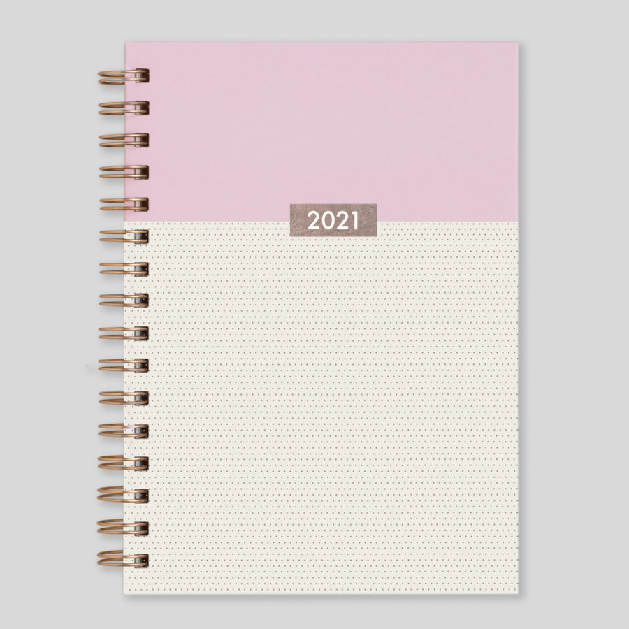 2021 A5 Rose Gold Diary