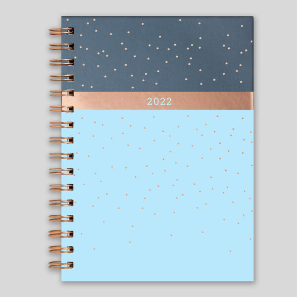 Matilda Myres 2022 Rose Gold Wiro Weekly Diary – Blue – MY115-02W-NEW