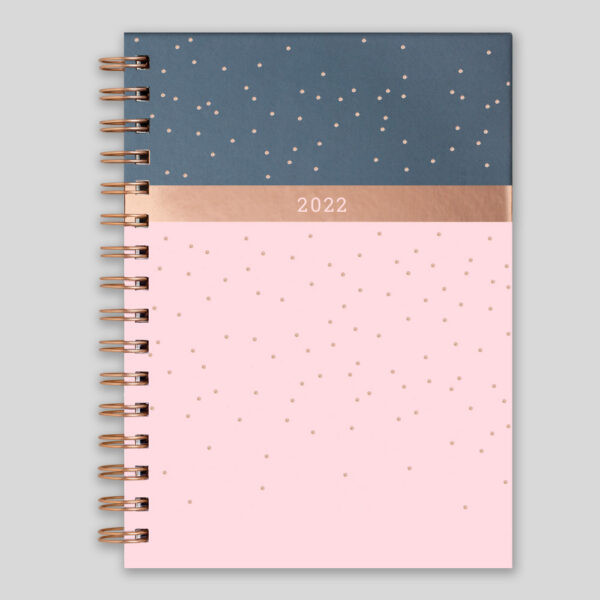 Matilda Myres 2022 Rose Gold Wiro Weekly Diary – Pink – MY115-01W-NEW