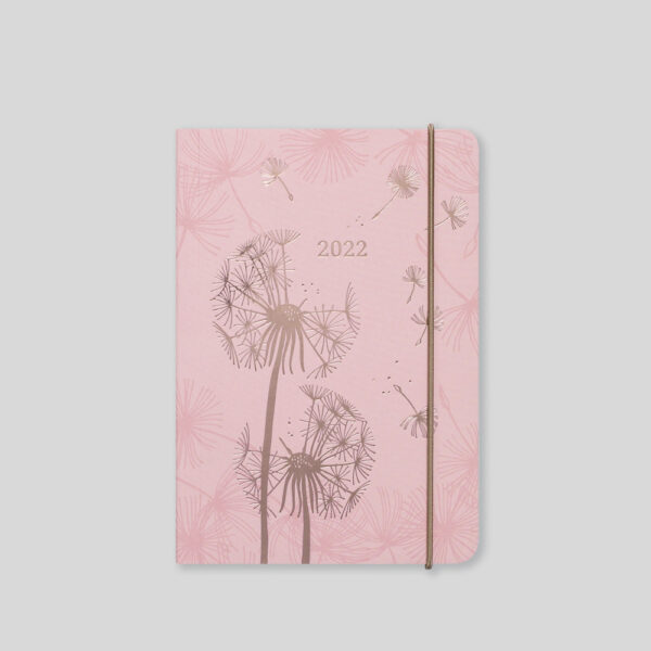 Matilda Myres 2022 Rose Gold Dandelion A6 Daily Diary – MY125-01D-Pink