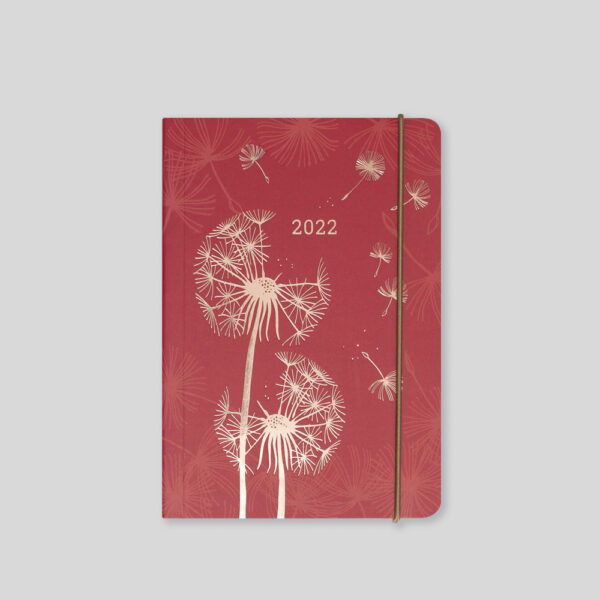 Matilda Myres 2022 Rose Gold Dandelion A6 Daily Diary – MY125-03D-Red