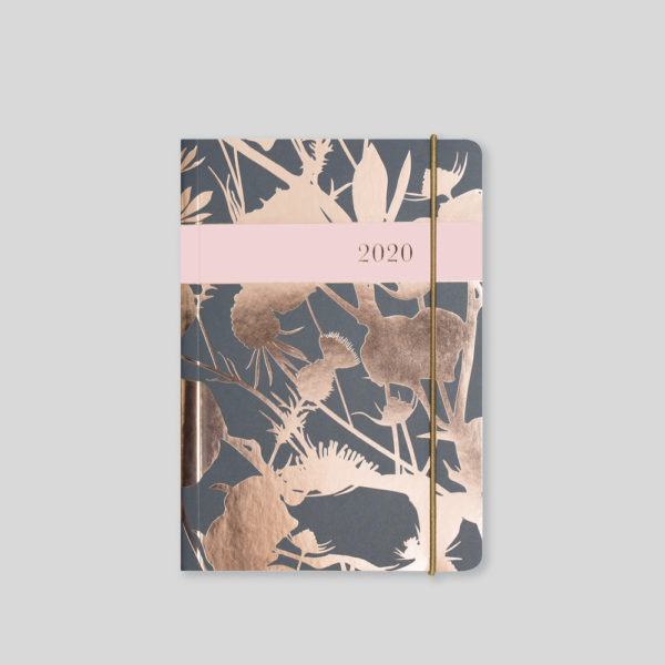 Matilda Myres 2020 Rose Gold Thistle A6 Daily Diary – MY125-02D