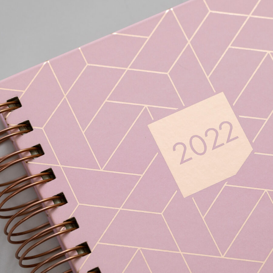 2022 Diary Matilda Myres Day a Page Diaries Pink Cover