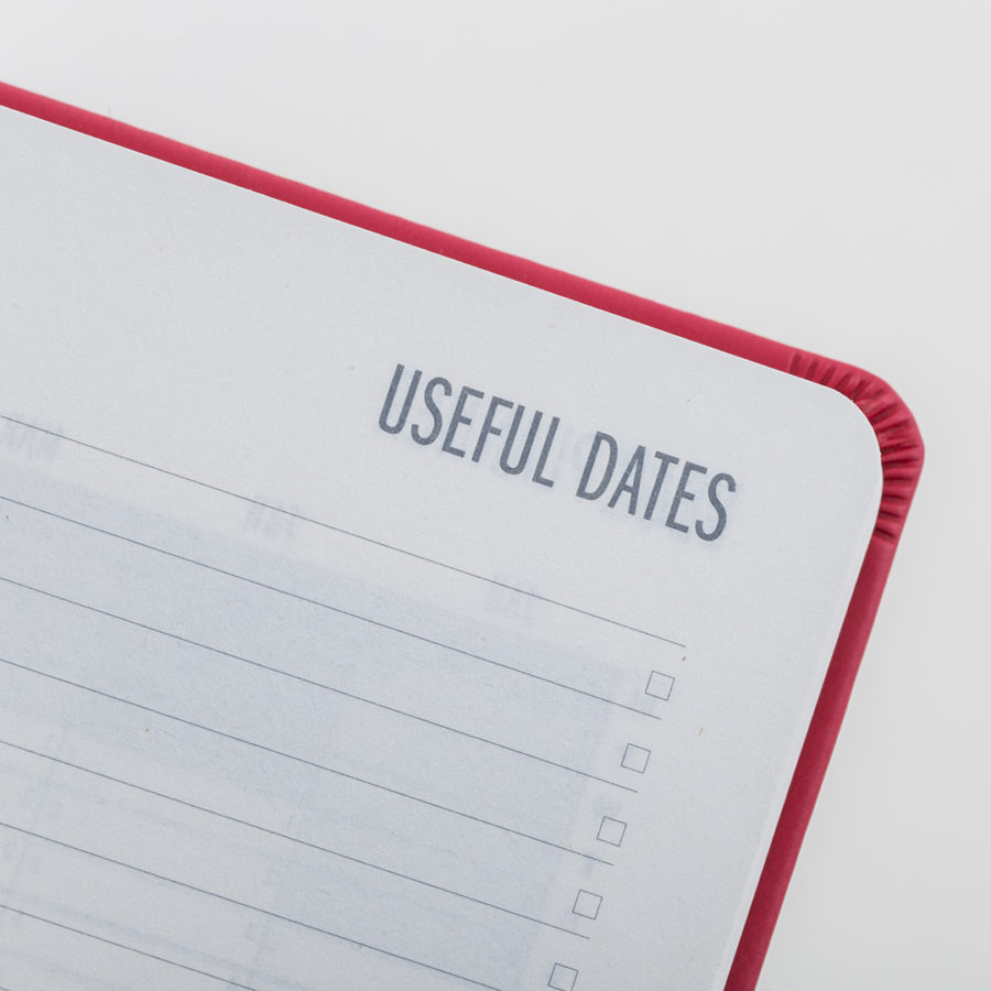 Useful Dates to fill in yourself
