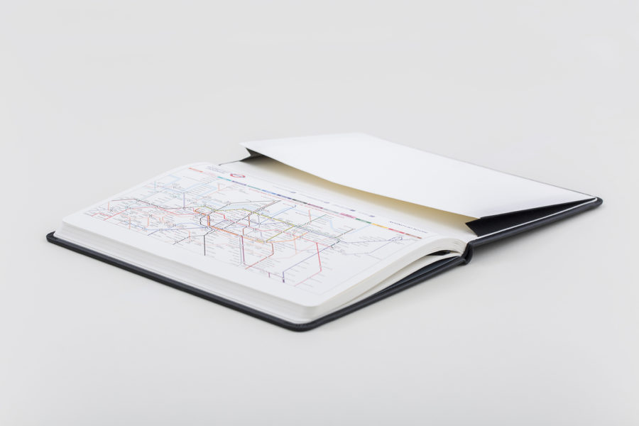 Diary with Tube Map