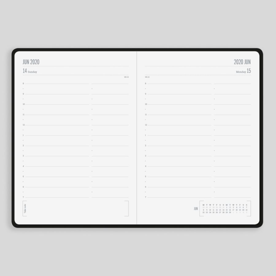 2020 Daily Diary Layout