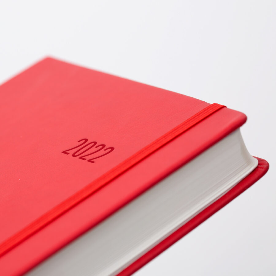 2022 Day a Page Diary Forbes Red Covers