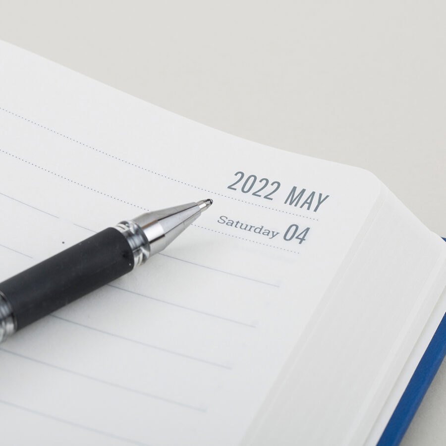 2022 Day a Page Diary Forbes Blue Layouts