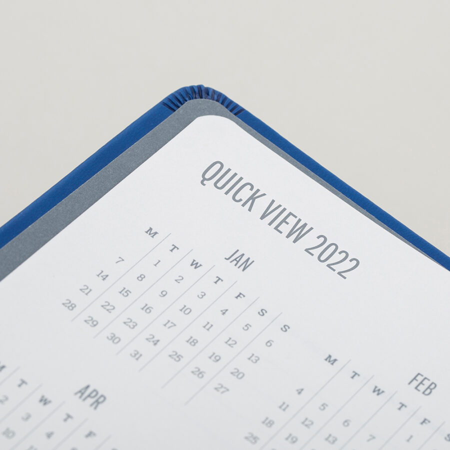 2022 Day a Page Diary Forbes Blue Calendar