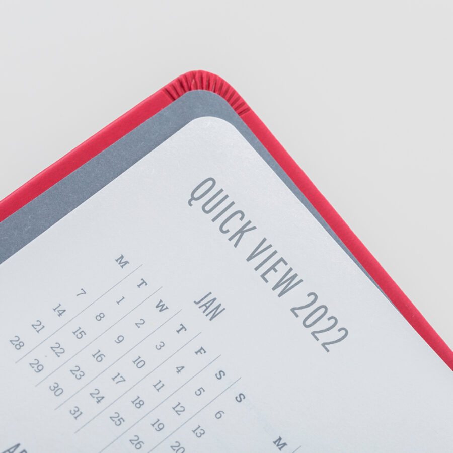 2022 Day a Page Diary Forbes Red Calendar