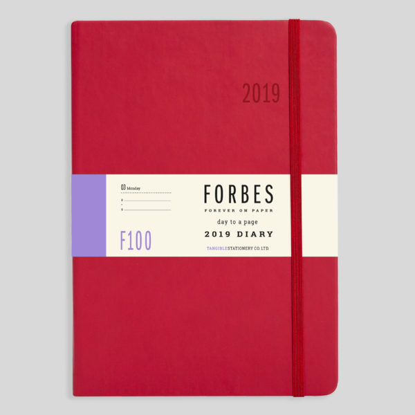 FORBES Classic 2019 A5 Day a Page Diary with Appts F100-03