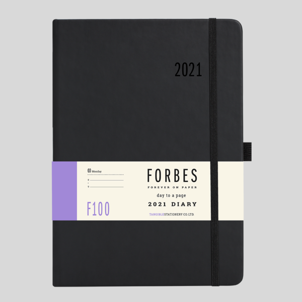 FORBES Classic 2021 A5 Day a Page Diary with Appts F100-01