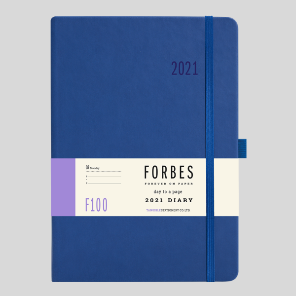 FORBES Classic 2021 A5 Day a Page Diary with Appts F100-02