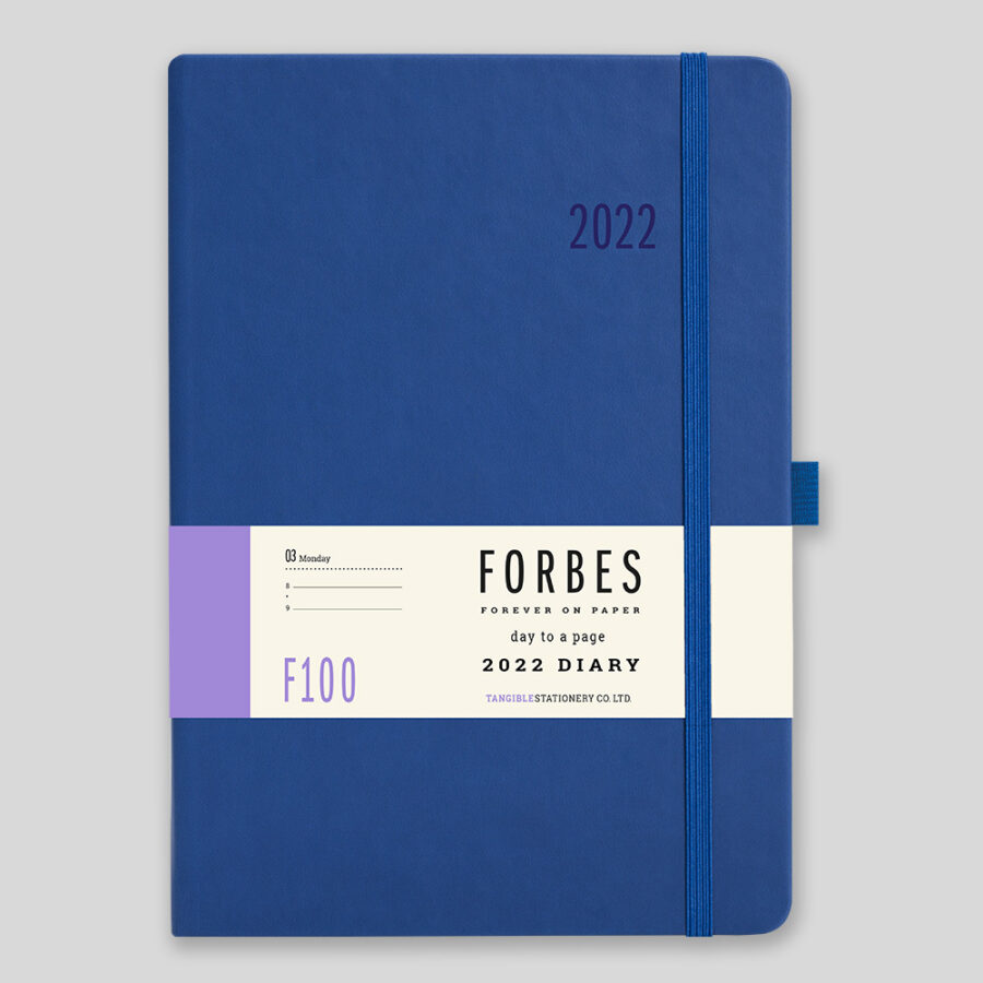 2022 Day a Page Diary Forbes Blue
