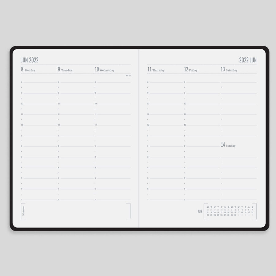 2022 Week Diary Forbes Black Layout