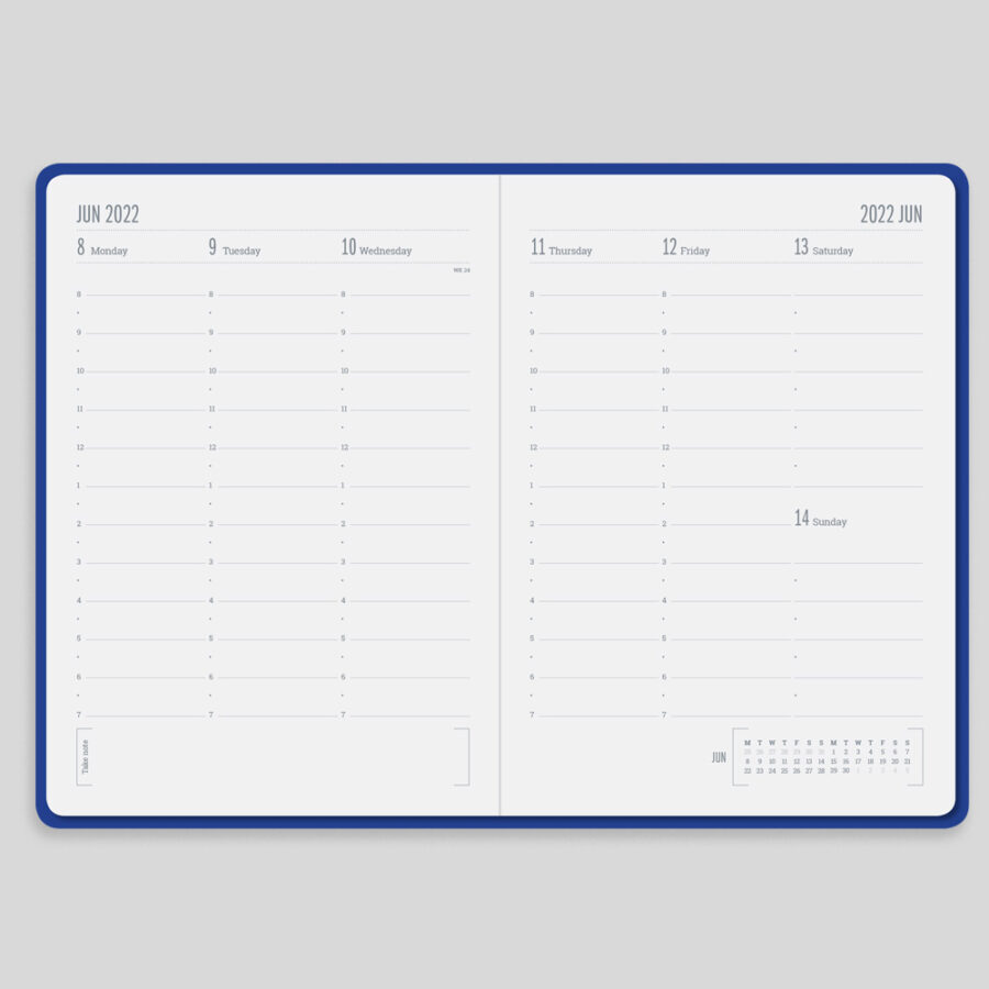 2022 Week Diary Forbes Blue Layout