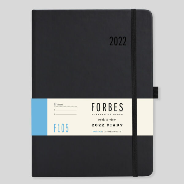 FORBES Classic 2022 A5 Week to View Diary with Appts – F105-01-Black