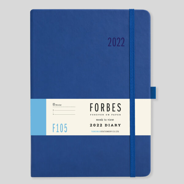 FORBES Classic 2022 A5 Week to View Diary with Appts – F105-02-Blue