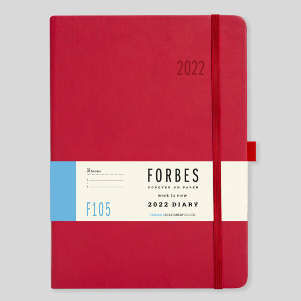 FORBES Classic 2022 A5 Week to View Diary with Appts – F105-03-Red