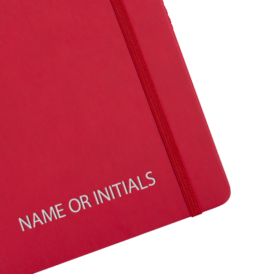 Personalised Red Diary