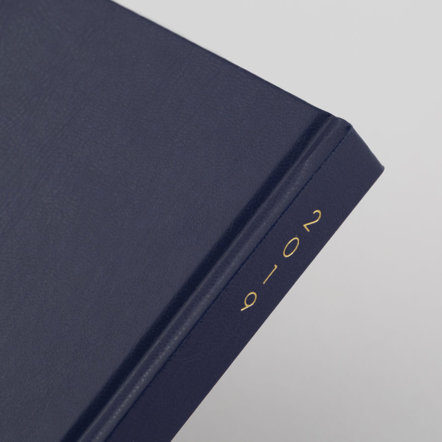2019 Diary Spine Blue