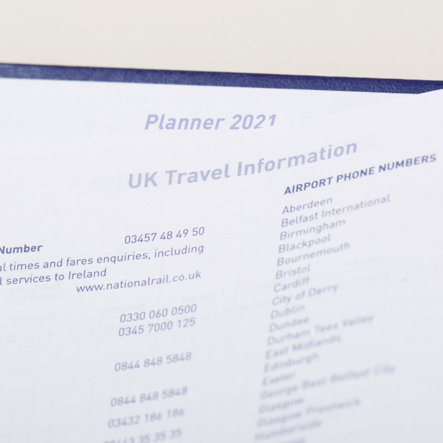 2021 A5 Day to Page Diary Holidays