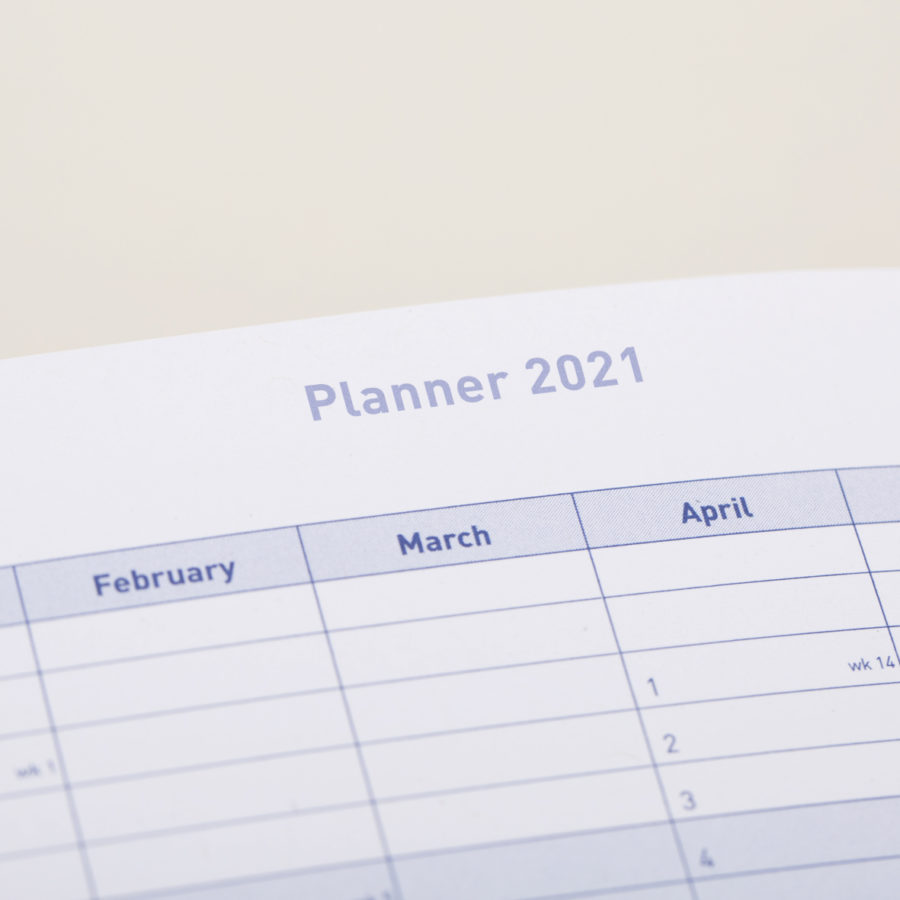 2021 A5 Day to Page Diary Planner