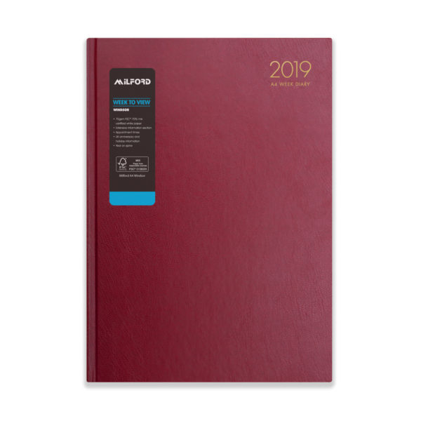 Milford 2019 A4 Weekly Diary with Appts 441556-BUR