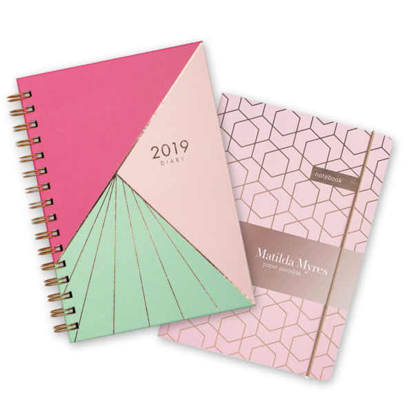 Matilda Myres 2019 Rose Gold Diary & Notebook – Beams
