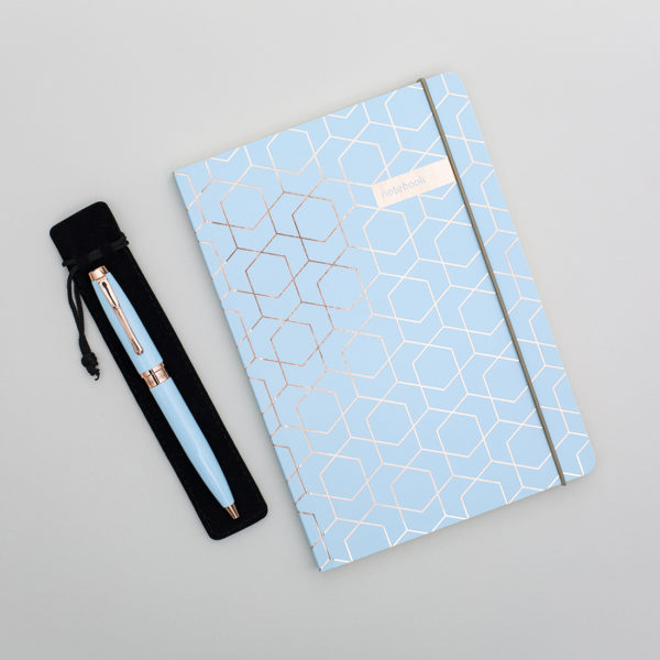 Blue notebook set
