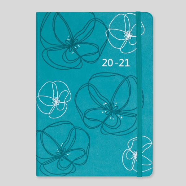 Matilda Myres 2020-21 Floral Soft Touch A5 Daily Mid Year Diary – MY100-02D