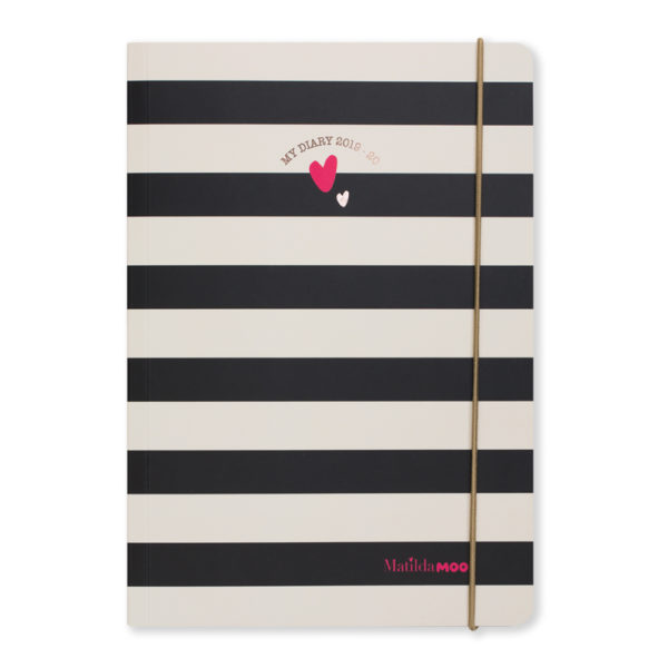 Matilda MOO 2019-20 Flex Cover A5 Weekly Mid Year Diary – Black – MOO100-03W