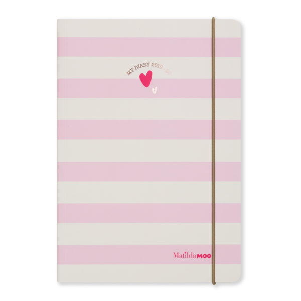 Matilda MOO 2019-20 Flex Cover A5 Weekly Mid Year Diary – Pink – MOO100-01W