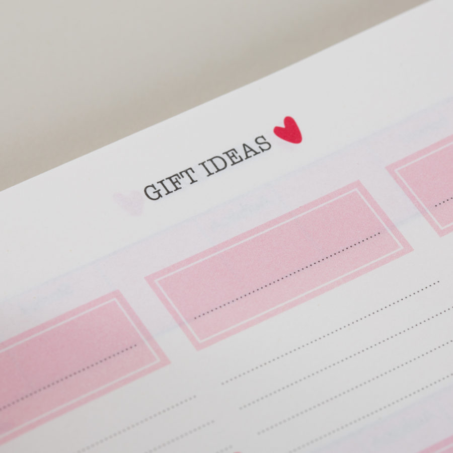 Gift Lists in Diary