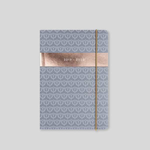 Matilda Myres 2019-20 Flex Cover A6 Daily Mid Year Diary – Grey – MY110-02D