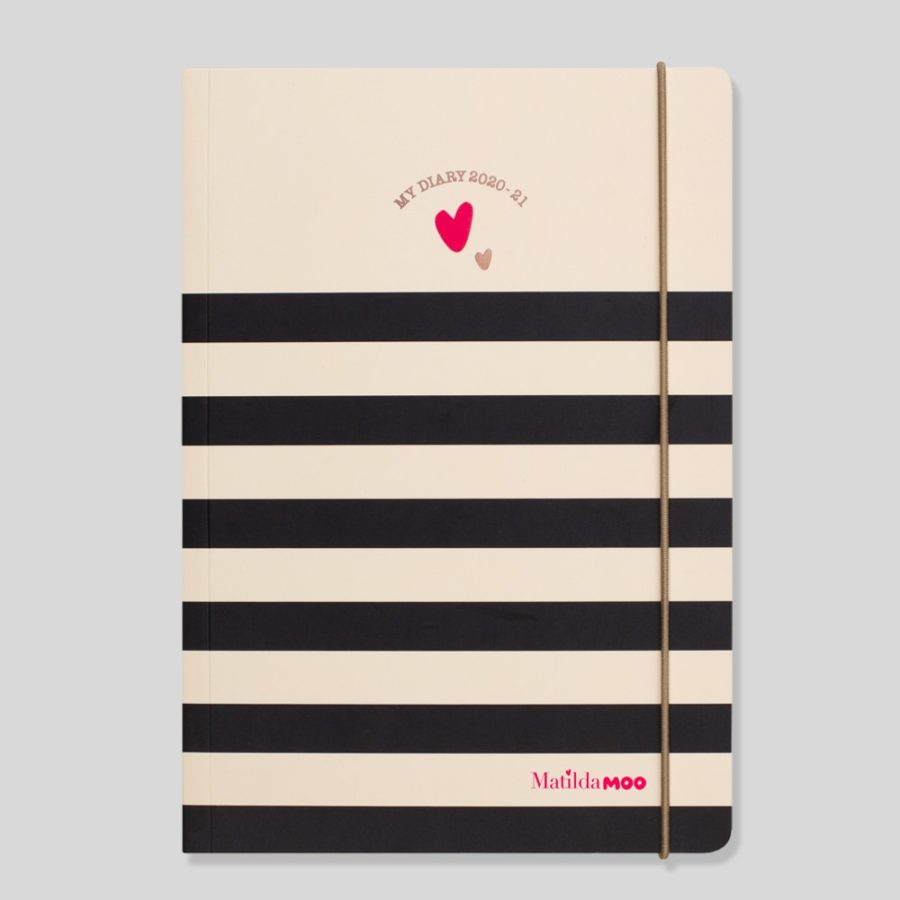 2020-21 A5 Weekly Diary Stripe by Matilda MOO