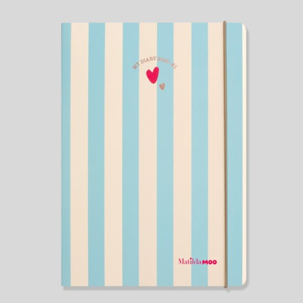 Matilda MOO 2020-21 Flex Cover A5 Weekly Mid Year Diary – Blue – MOO100-02W