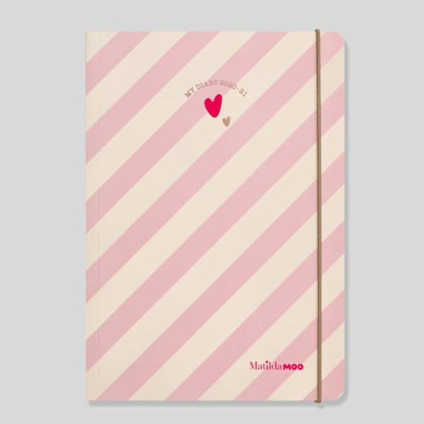 Matilda MOO 2020-21 Flex Cover A5 Weekly Mid Year Diary – Pink – MOO100-01W
