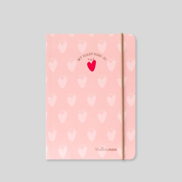 Matilda MOO 2020-21 Flex Cover A6 Daily Mid Year Diary – Pink – MOO110-01D