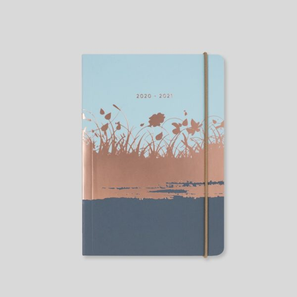 Matilda Myres 2020-21 Flex Cover A6 Daily Mid Year Diary – Blue – MY110-02D