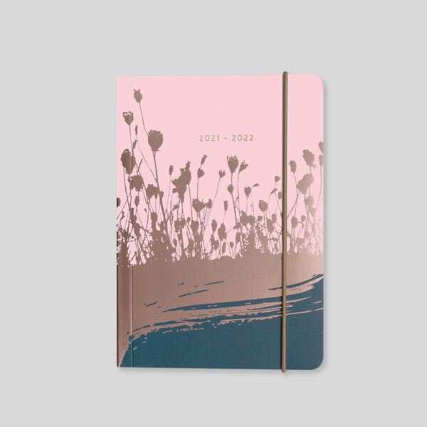 Matilda Myres 2021-22 A6 Daily Mid Year Diary – Pink – MY110-01D