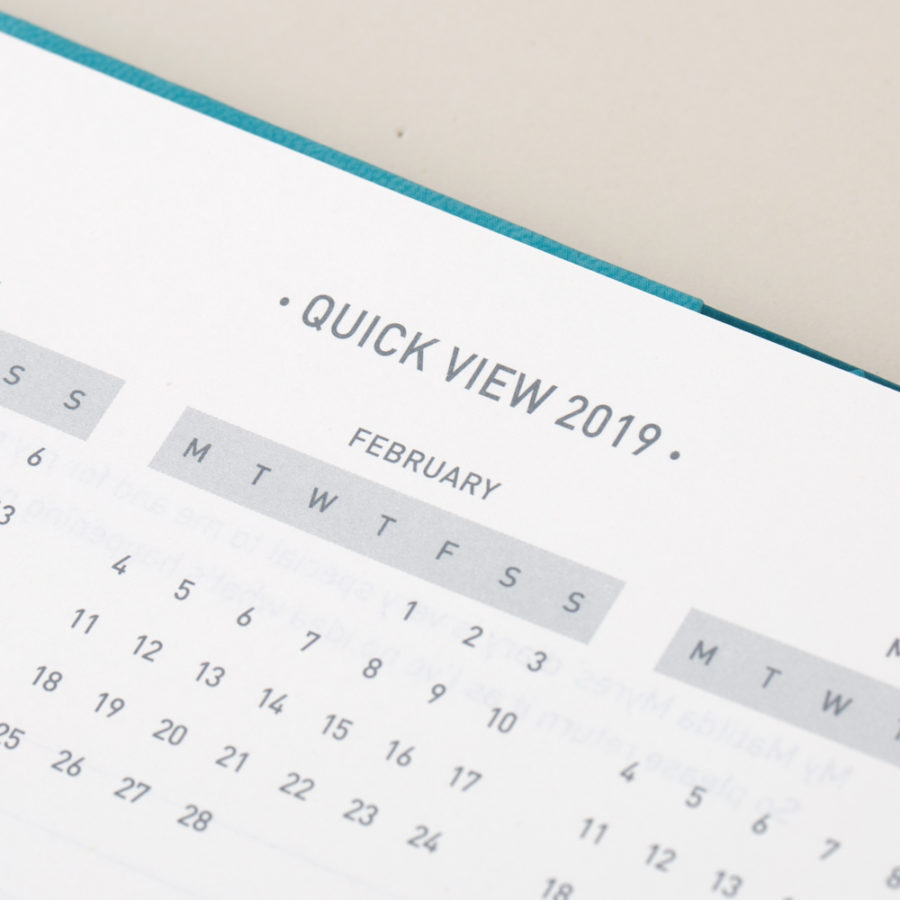 Quick View Calendar in Academic Diary